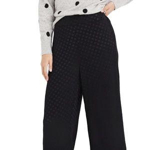 Drapey Jacquard Huston Pull-On Crop Pants